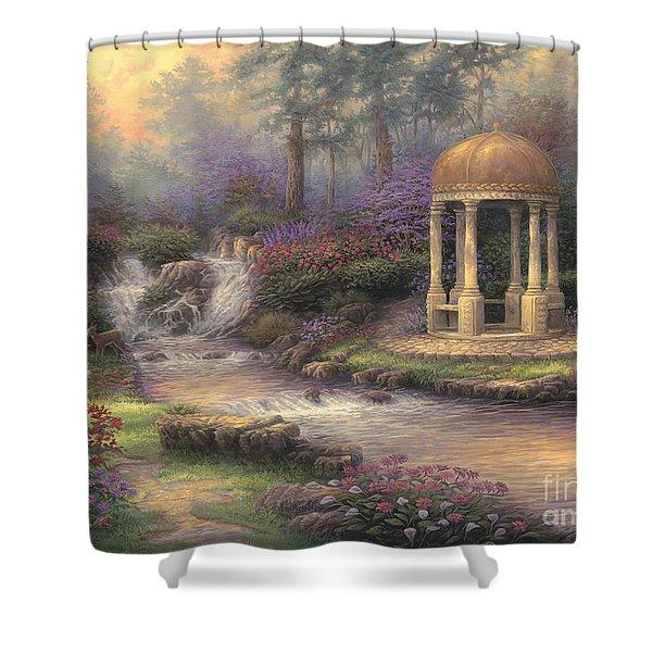 Love's Infinity Garden Shower Curtain