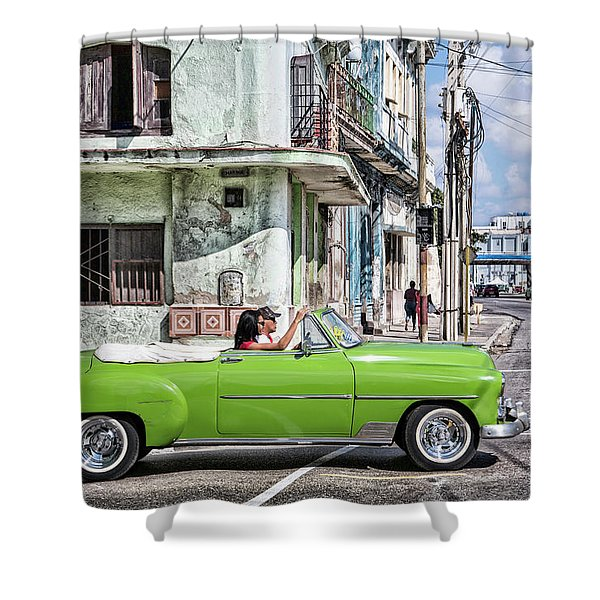 Lovin' Lime Green Chevy Shower Curtain