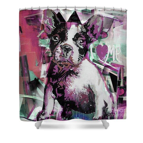Loving Dog 66n Shower Curtain