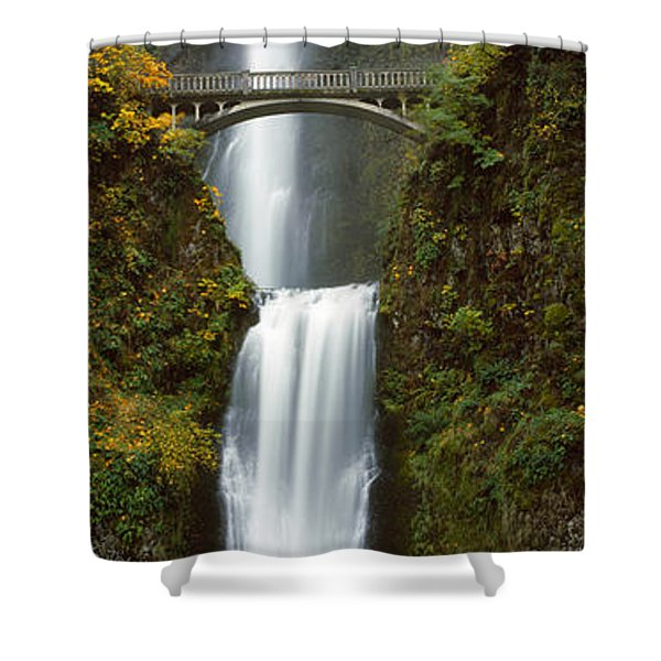 Low Angle View Of A Waterfall Shower Curtain
