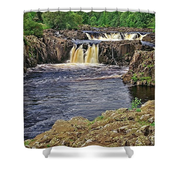 Low Force Waterfall, Teesdale, North Pennines Shower Curtain