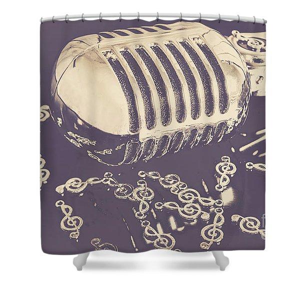 Low Key Jazz Bar Shower Curtain