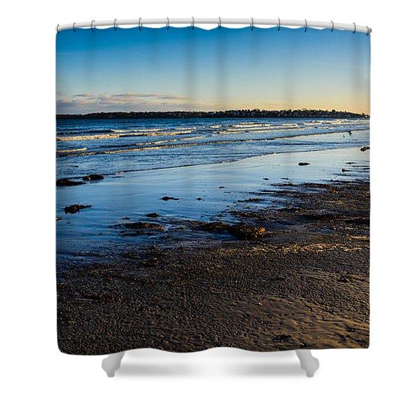 Low Tide In Winter Shower Curtain