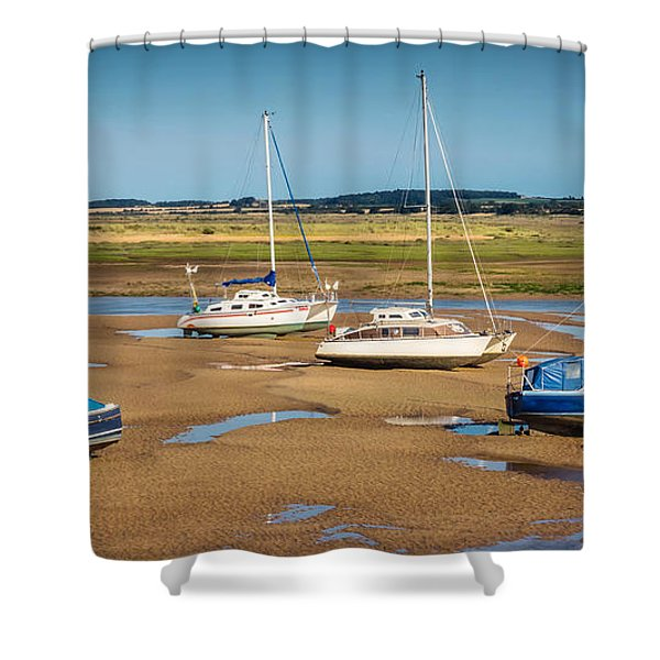 Shower Curtain featuring the photograph Low Tide by Nick Bywater