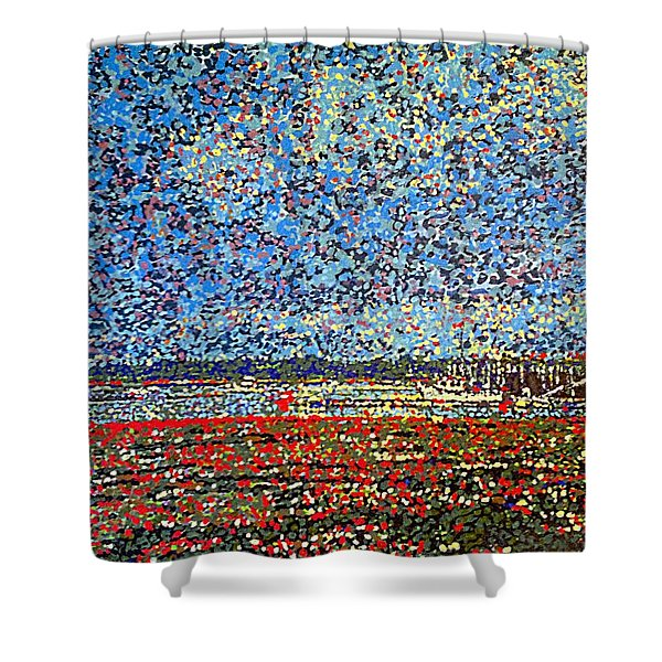 Low Tide - St. Andrews Wharf Shower Curtain