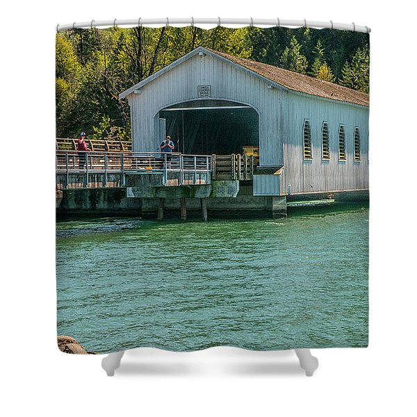 Lowell Covered Bridge Shower Curtain