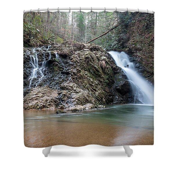 Lower Brasstown Falls Shower Curtain
