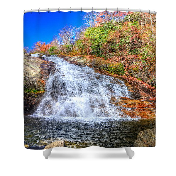 Lower Falls At Graveyard Fields Shower Curtain
