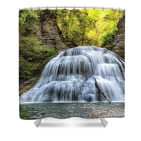 Lower Falls At Treman State Park Shower Curtain