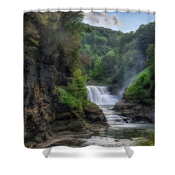 Lower Falls - Summer Shower Curtain