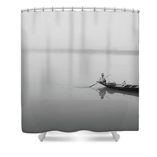 Lower Ganges - Misty Morinings Shower Curtain