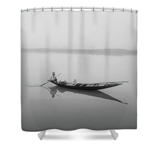 Lower Ganges - Misty Morinings Shower Curtain