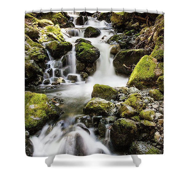 Lower Lupin Falls   Shower Curtain