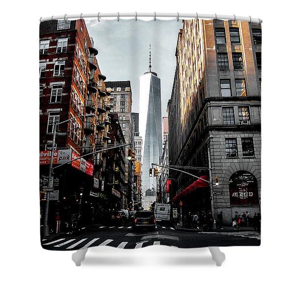 Lower Manhattan Shower Curtain