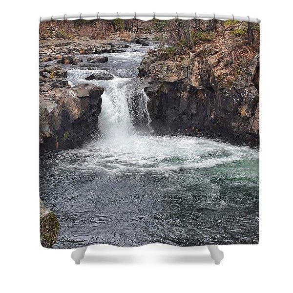 Lower Mccloud Falls Shower Curtain