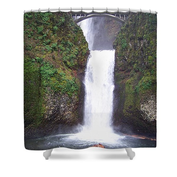 Shower Curtain featuring the photograph Lower Multnomah Falls by Charles Robinson