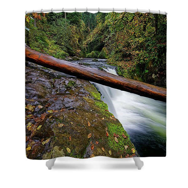 Lower Punch Bowl Falls Shower Curtain