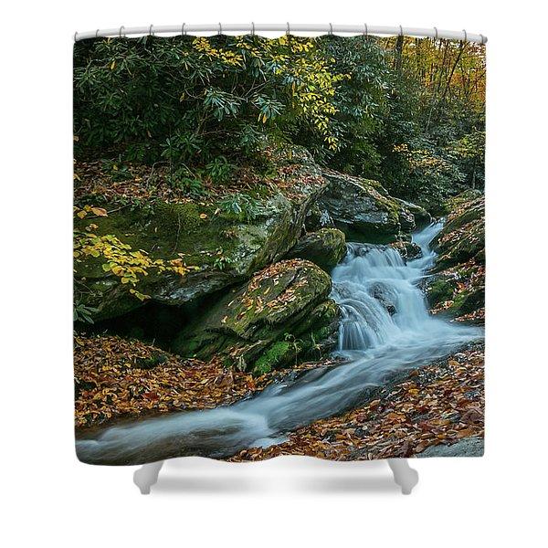 Lower Upper Creek Falls Shower Curtain