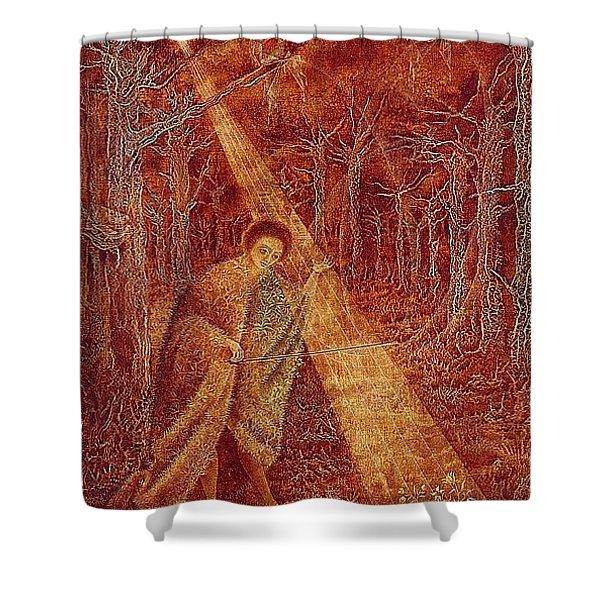 lrs Varo Remedios Solar Music Remedios Varo Shower Curtain