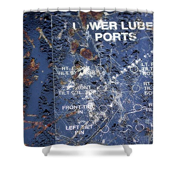 Lube Port Shower Curtain