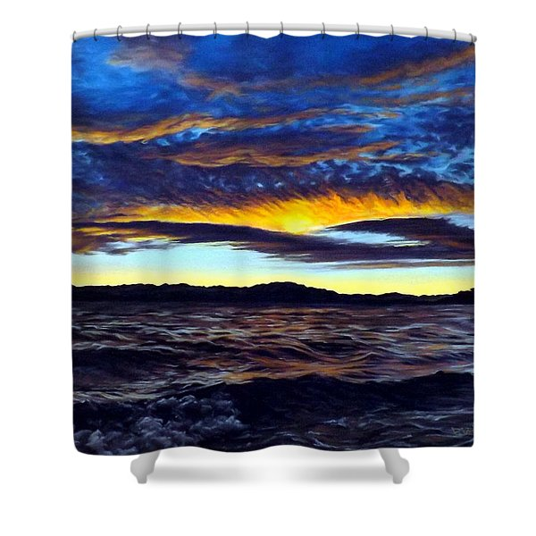 Lucerne Sunset Shower Curtain