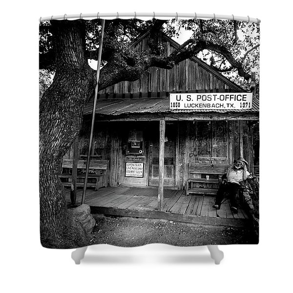 Luckenbach Texas Shower Curtain