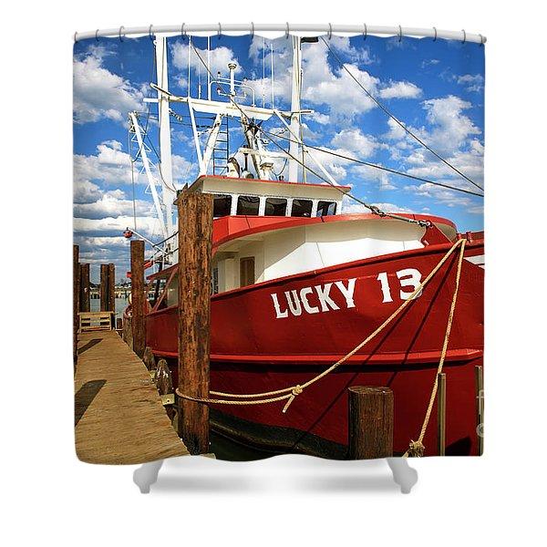 Lucky 13 At Long Beach Island Shower Curtain
