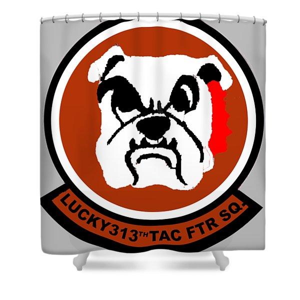 Lucky 313th Tac Ftr Sq Shower Curtain