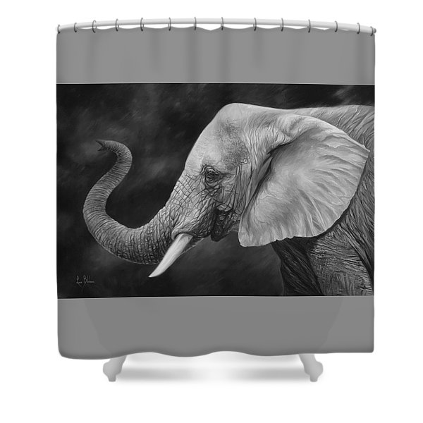 Lucky - Black And White Shower Curtain