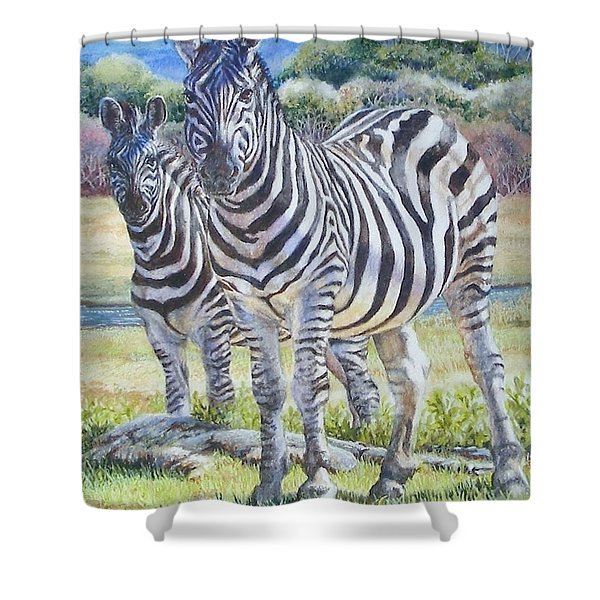 Lucky Stripes Shower Curtain
