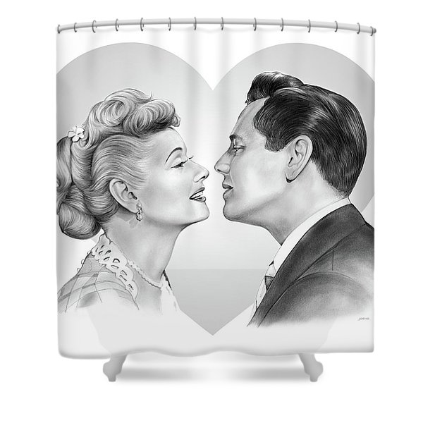 Lucy And Desi Shower Curtain