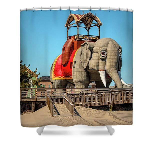 Lucy On The Beach Shower Curtain