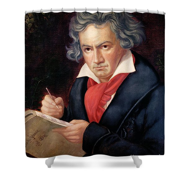 Ludwig Van Beethoven Composing His Missa Solemnis Shower Curtain