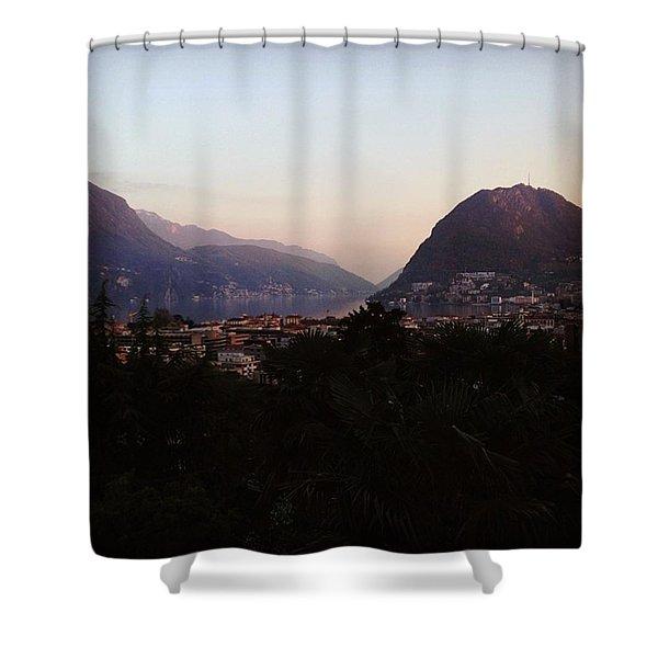 Lugano - Switzerland Shower Curtain