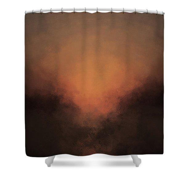 Luminous Descent Shower Curtain