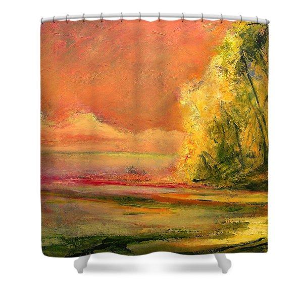 Luminous Sunset 2-16-06 Julianne Felton Shower Curtain