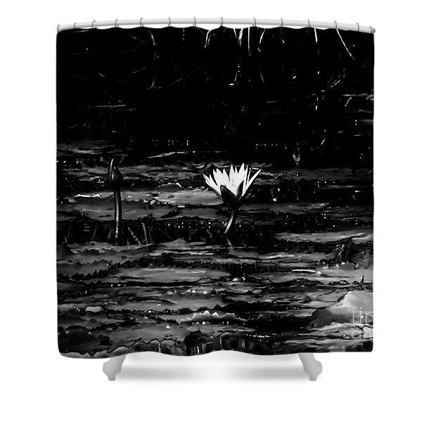Luminous Water Lily  Shower Curtain
