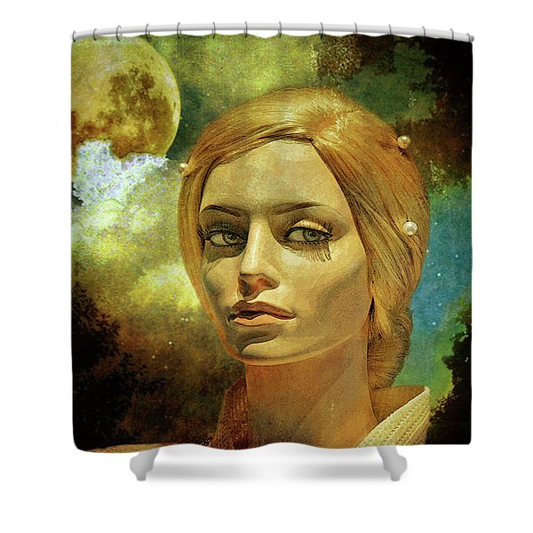 Luna In The Garden Of Evil Shower Curtain