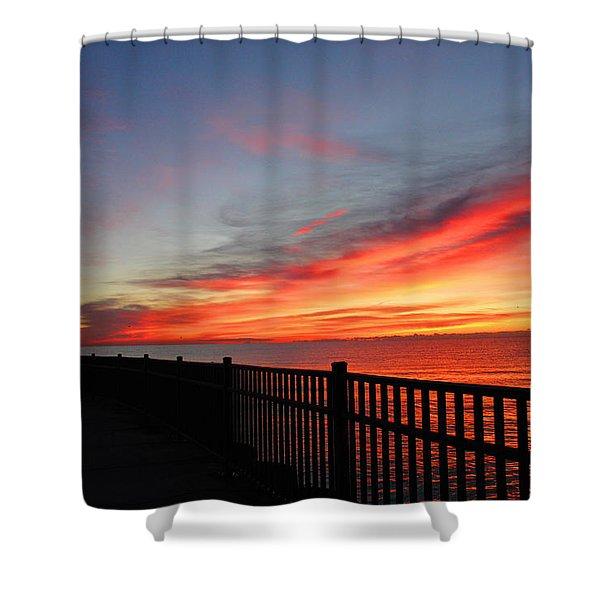 Luna Pier Shower Curtain