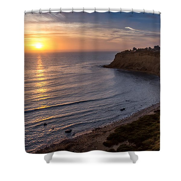 Lunada Bay Sunset Shower Curtain