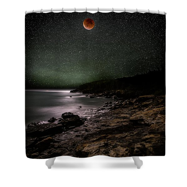 Lunar Eclipse Over Great Head Shower Curtain