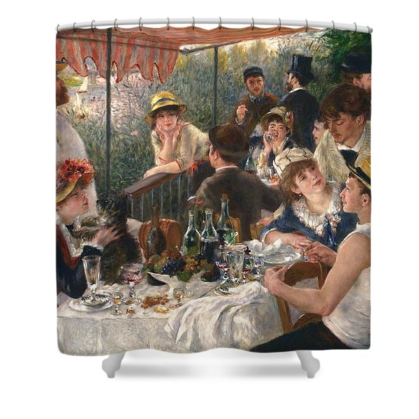 Luncheon Of The Boating Party By Renoir Shower Curtain