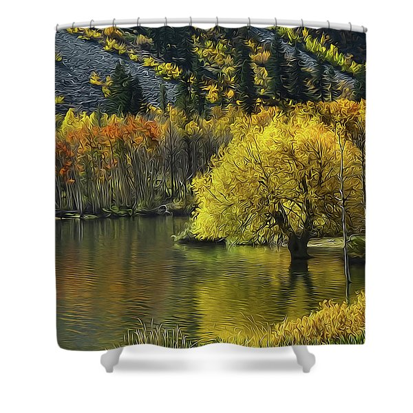 Lundy Lake Beauty Shower Curtain