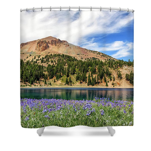 Lupines Lake And Lassen Shower Curtain