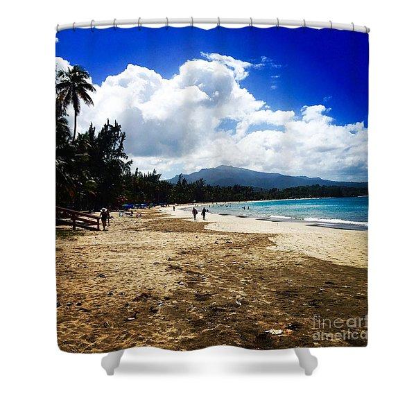 Luquillo Beach, Puerto Rico Shower Curtain