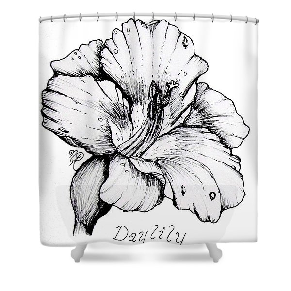 Luscious Daylily  Shower Curtain