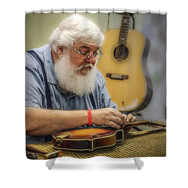 Luthier Shower Curtain