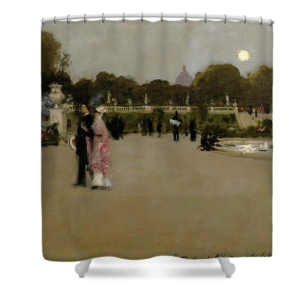 Luxembourg Gardens At Twilight, 1879 Shower Curtain