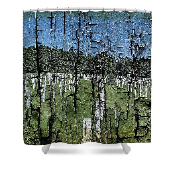Luxembourg Wwii Memorial Cemetery Shower Curtain