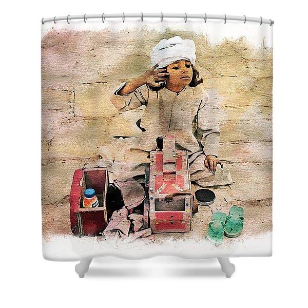 Luxor Shoeshine Girl Shower Curtain